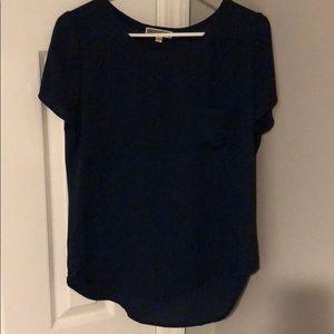 Tops - Navy short sleeve blouse